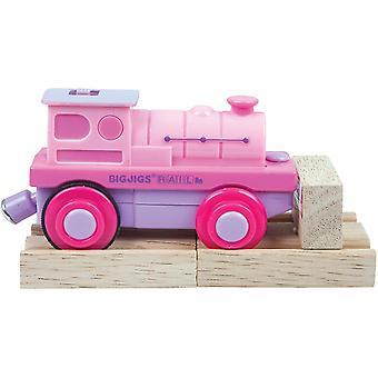 Bigjigs Železniční Pink baterie provozované vlakový motor