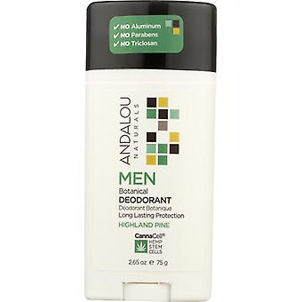 Andalou Naturals Men Botanical Deodorant Highland Pine, 3.25 Oz