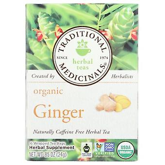 Traditional Medicinals Teas Organic Ginger Tea, 16 Bags