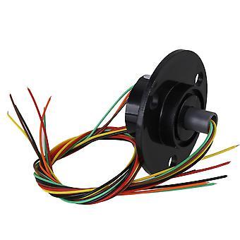Duurzaam Zwart 2A 6 draden 240V Lichtgewicht 250RPM Geleidende Slip Rings Circuit