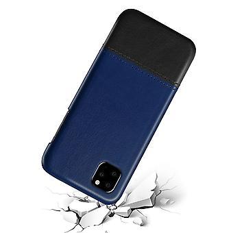 アップルのiPhone Xマックスブルー&ブラッククシキ-13用レザーケース
