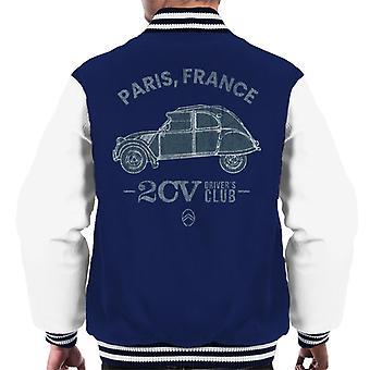 Citro?n 2CV Drivers Club Paris Frankrike Herre Varsity Jakke