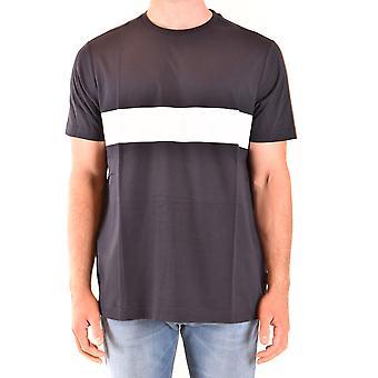 Fay Ezbc035082 Men's Black Cotton T-shirt