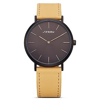 SINOBI 9691 women Watch Simple PU Leather Strap Luxury Brand Ladies Quartz