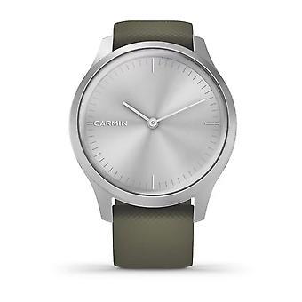 Garmin 010-02240-01 Vivomove Style Smartwatch Silver Aluminium Case & Moss Silicone Band Watch