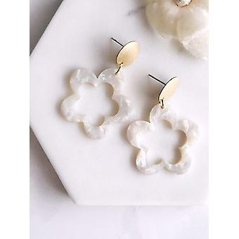Acetate Organic Hoops Earrings