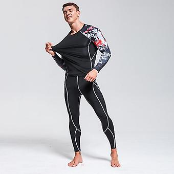 High-quality Men's Thermal Underwear Set, Gym Quick-drying Riding Warm Sport