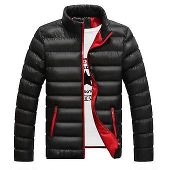 Winter Warm Coat Casual Stand Collar Thick Parkas Men Long Sleeve Skiing