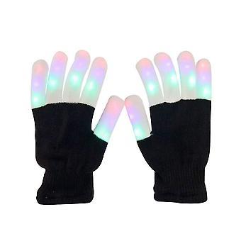 Aomeiqi encender guantes para adultos, guantes led parpadeando guantes de luz de los dedos guantes coloridos rave para