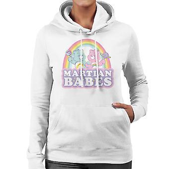 Care Bears Cheer Bear And Wish Bear Martian Babes Women's Hooded Sweatshirt