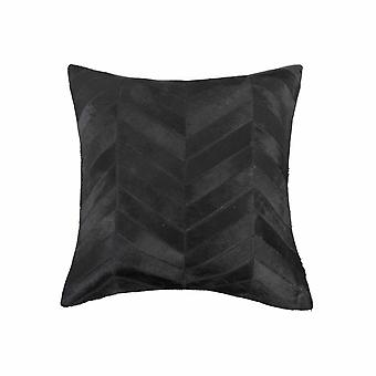 """18"""" x 18"""" x 5"""" Black And Natural - Pillow"""