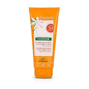 Polysianes gel sun cream sublime face and body spf 30 200 ml of gel