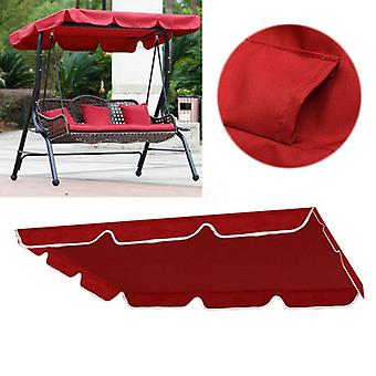 Red Outdoor Patio Porch Swing Hammock Bench Canopy Garden Top Cover  (cover