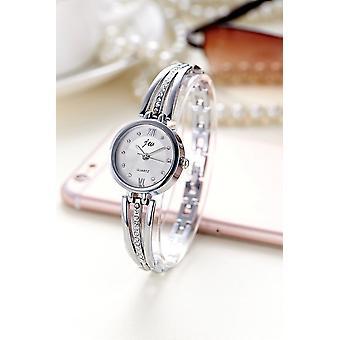 Luksus Rhinestone ure, kvinder rustfrit stål kvarts armbånd Watch Gold