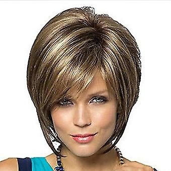 Women's Realistic Wig Side Bangs Short Curly Wig Wholesale