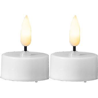 Värmeljus 2 -pack LED m timer, vita