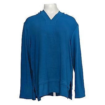 Cuddl Duds vrouwen ' s top ultra zachte comfort Hooded tuniek blauw A346814