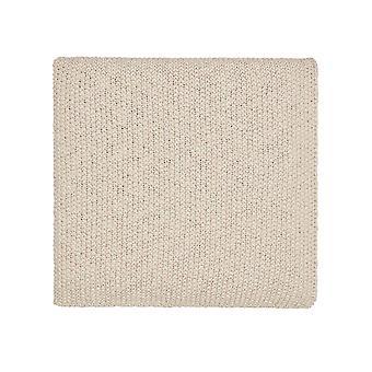 Drift Organic Knit Throw By Murmur In Linen Cream