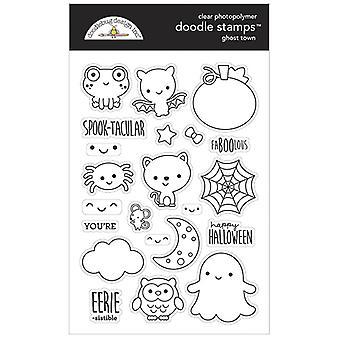Doodlebug Design Ghost Town Doodle Briefmarken