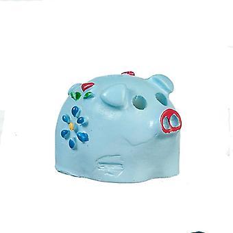 בובות בית כחול פיגי קופת מיניאטורי משתלה חנות אביזר 1:12 סולם