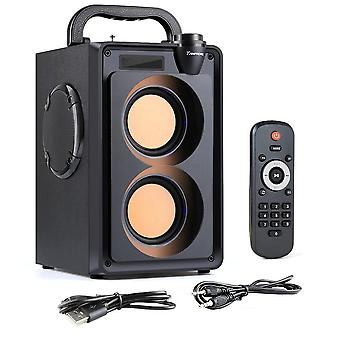 20w Bluetoothポータブルワイヤレスステレオベースサブウーファースピーカー - カラムサポート