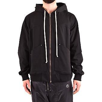 Rick Owens Ezbc436007 Men's Black Cotton Sweatshirt
