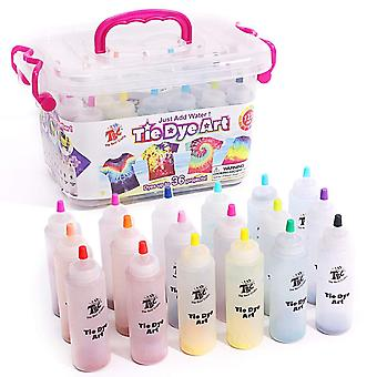 Tbc the best crafts tie-dye art kit for over 18 kids to play, easy & fun 18 pcs
