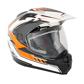Stealth HD009 Adventure Adult Dual Sport Helmet - Orange