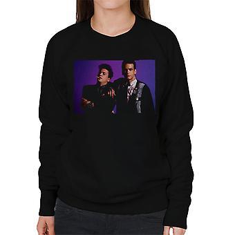 Weird Science Ian och Max Lila Bakgrund Kvinnor's Sweatshirt