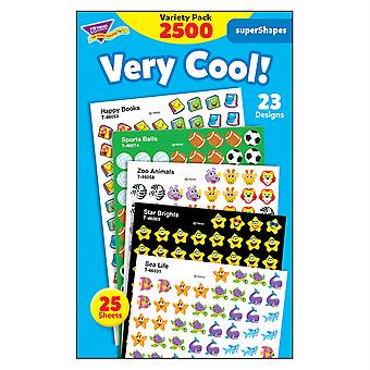 Très cool! Supershapes Stickers Variety Pack, 2500 Ct