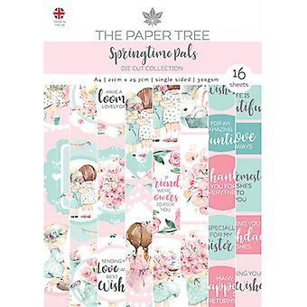 The Paper Tree - Springtime Pals Collection - Die Cut Sheets - A4 Paper Pad