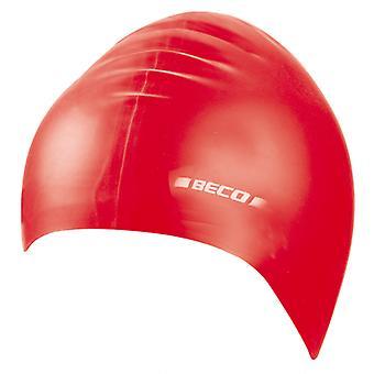 BECO Junior Silicone Swimming Cap - Red