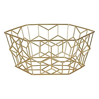 Vertex Contour Fruit Basket, Gold
