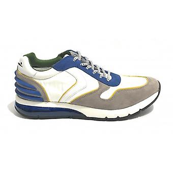 Running Voile Blanche Suede/ Grey Nylon Fabric/ White/ Men's Blue Us19vb01
