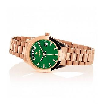 Hoops Luxury Day Date Gold Green Watch 33mm Women's
