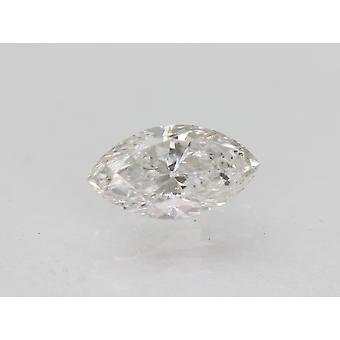Certified 0.34 Carat E VS2 Marquise Enhanced Natural Diamond 6.16x3.36mm 2VG