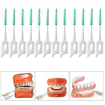 Interdentaalinen harja puhdas hampaiden välissä Hammaslanka Poimi push-pull hammastikku