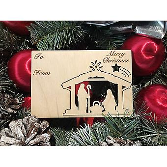Nativity Holiday Ornament Card #9004