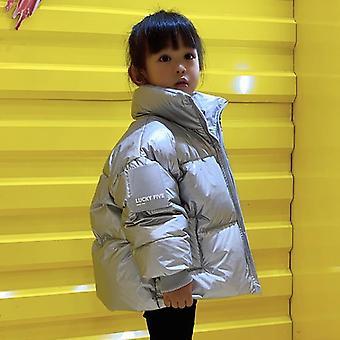 Talvinen korealainen takki, vedenpitävä kiiltävä alas, takki &