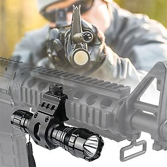Bumlon Tactical Flashlight Ar15 Lights Weapon Light Led Torch + Pressure Switch