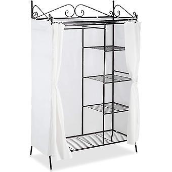 Relaxdays Metall Garderobe COUNTRY 172 x 105 x 45 cm HxBxT, Landhausstil Kleiderschrank mit