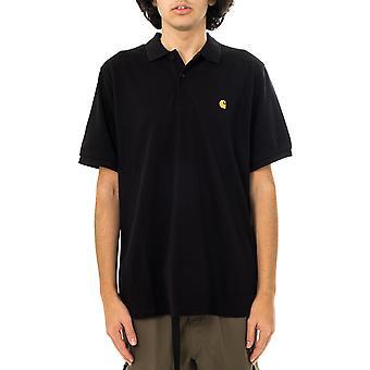 Camiseta masculina carhartt wip s/s chase pique polo i023807.89