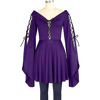 Chic Star Medieval Gothic Top In Purple