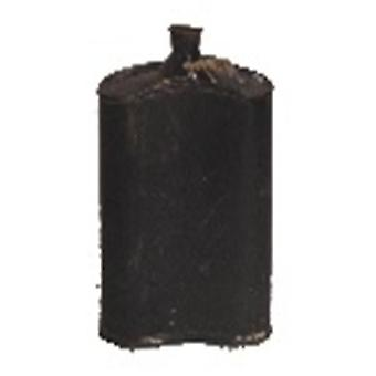 Spura Home Indian Vintage Water Storage Bottiglia nera di ferro