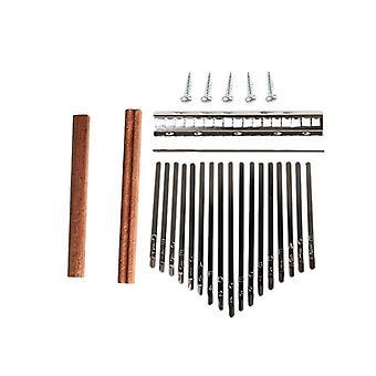 Kalimba Diy Set Kestävä peukalo piano teräs avain wood bridge