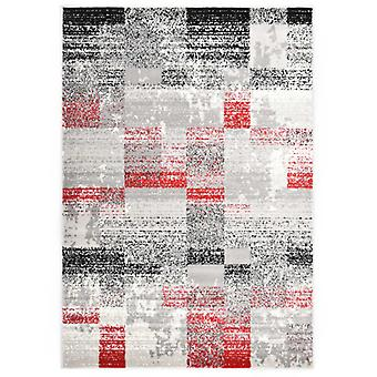 vidaXL Rug Grey and Red 80 x 150 cm PP