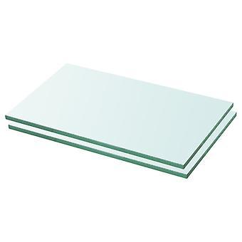 vidaXL رفوف 2 pcs. الزجاج شفاف 30 × 12 سم