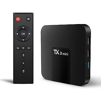 TX3 Mini Android 8.1 Smart TV Box Android Streaming Media Player / 4K TV-laatikko Amlogic S905W Quad-Core -piirisarjalla, 64 bittiä 2 Gt / 16 Gt, WiFi, 4K HD, H.265(musta)
