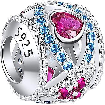 FengChun funkelnde Kristall Charms Kollektion, 925er Sterlingsilber, Perlen, Anhnger, passend fr
