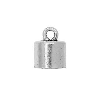 Final Sale - Nunn Design Cord End, Barrel 11.5mm, 1 Piece, Antiqued Silver